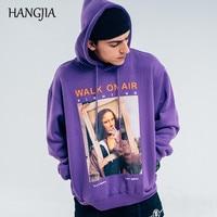 Funny Mona Lisa Smoking Print Fleece Hooded Hoodies Pullover for Men Harajuku Hip Hop Streetwear Hoodie Sweatshirt Casual Tops