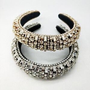 Corona de Oro reina princesa cristal diadema esponja diadema Rhinestone Rosa franela tocado Tiara accesorios para el cabello de boda