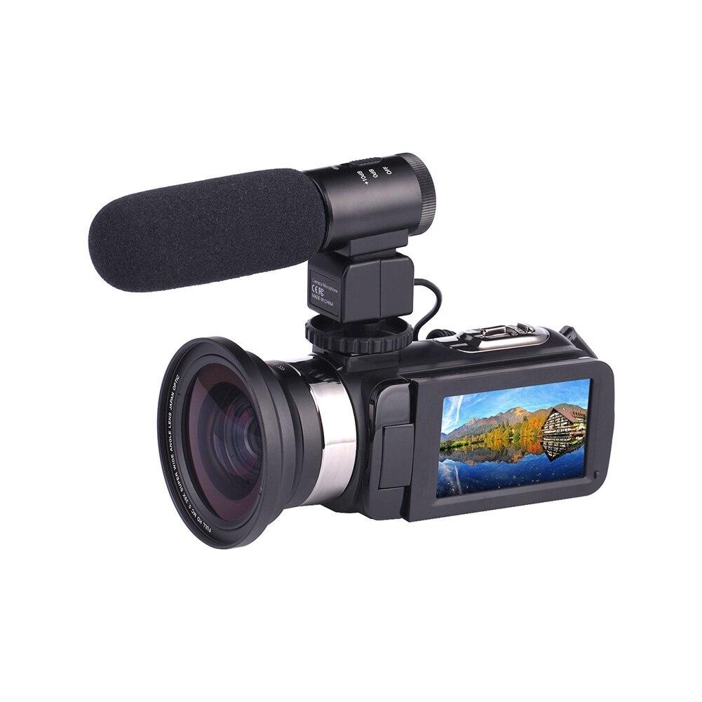 Objectif grand Angle prise de vue vidéo Wifi DVR caméscope numérique USB Microphone externe haute définition Portable clair COMS capteur