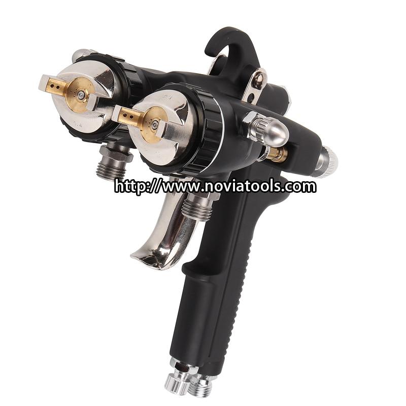 Double nozzle chrome gun dual head spray gun|Spray Guns| |  - title=
