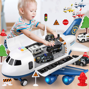 2020 Music Story Simulation Track Inertia Children's Toy Aircraft Large Size Passenger Plane Kids Airliner Toy Car