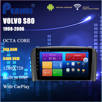 Android Car DVD For Volvo S80 ( 1998-2006) Car Radio Multimedia Video Player Navigation GPS Android 10.0 Double DIn image
