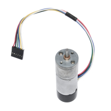цена на 25GA370H DC 12V 24V Gear Motor with Dual Channel Encoder for DIY 10 15 25 35 60 80 130 150 300 600rpm DC Encoder Gear Motor