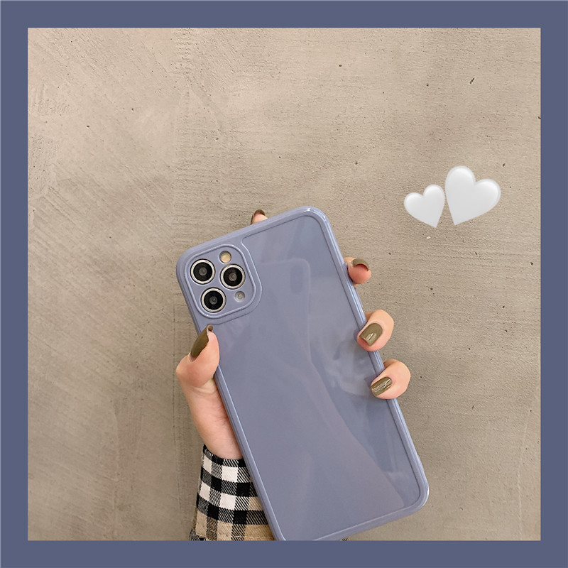 Luxury Vintage Fashion Square Solid Candy Color Ultra-thin Liquid Silicone Phone Case for iPhone 12 Pro Max  2