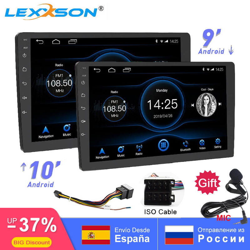 Универсальный 10 дюймов/9 дюймов 2din Android 8,1 автомобиль радио 1080P touch gps навигации Bluetooth wifi SWC RDS FM AM Зеркало Ссылка OBD 2-in Мультимедиаплеер для авто from Автомобили и мотоциклы