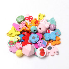 30PCS 15-30mm Natural Various styles and patterns Geometric Spacer Beads For Jewelry making Handmake DIY