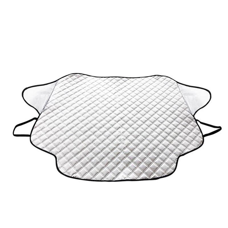 Лобовое стекло автомобиля снежное покрытие Водонепроницаемый Защита утолщаются для авто открытый зима DXY88 - Название цвета: Белый