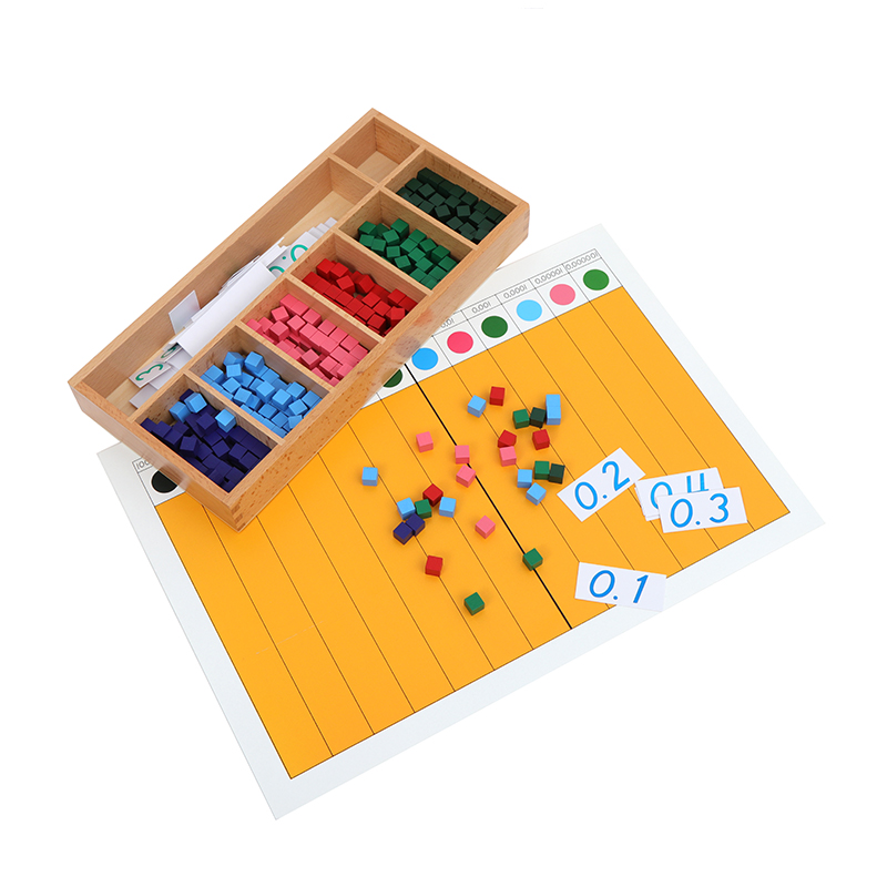 Decimal Fraction Exercise Cubes And Board Math Toys To Learn Fraction Montessori Elementary Materials Early Educational Toys