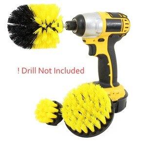 3 pcs Power Scrubber Brush Drill Brush Clean for Bathroom car Electric Bristle Bathtub Tile Grout Cordless Scrub Cleaning Kit