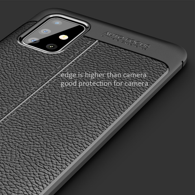 Leather Litchi Silicone Back Case Cover For Samsung Galaxy A51 A71 A81 A91 M30S M40S M60S M80S