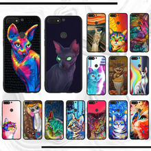 Para honor 10 funda arte gato suave funda silicona TPU Teléfono para honor Y6 8 8x9 10 view lite prime 8c 6 10plus 20 2018(China)