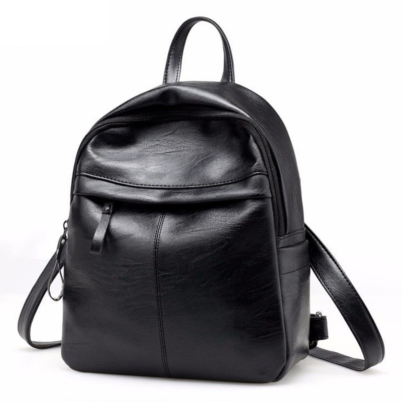 Fashion Women Backpack School Backpacks Pu Leather Women's Backpack Zipper School Bag Women Large Capacity Female's Travel Bag