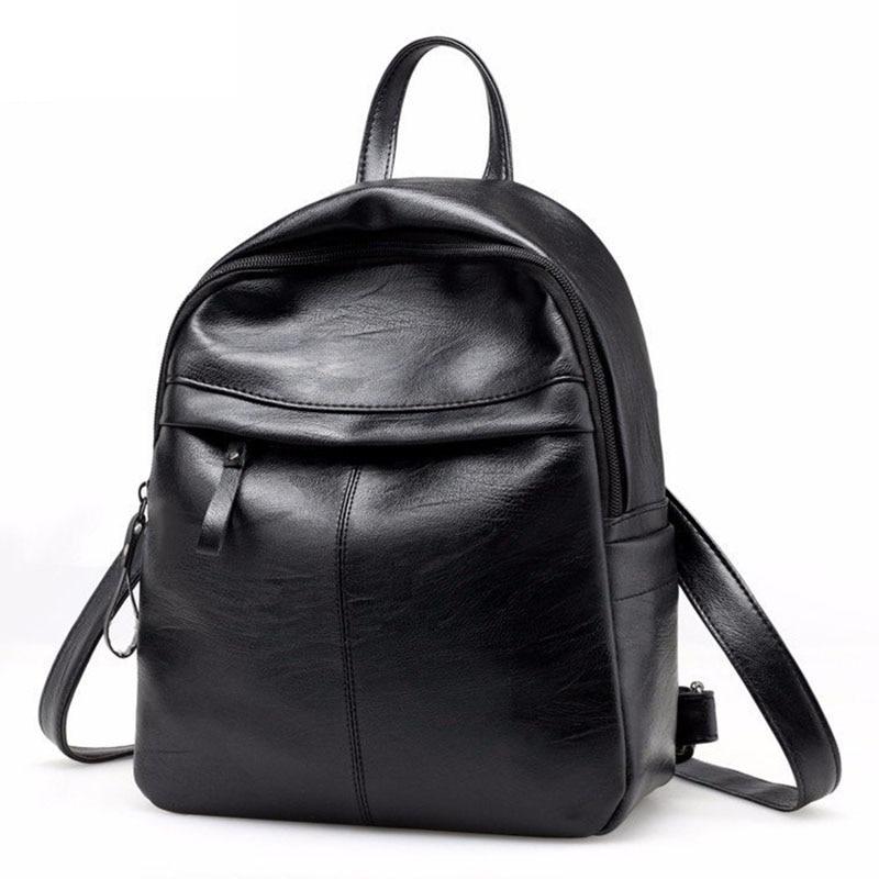 Fashion Women Backpack School Backpacks Pu Leather Women's Backpack Zipper School Bag Women Large Capacity Female's Travel Bag