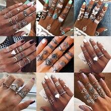 Женское кольцо в стиле бохо zovoli Винтажное серебряного цвета