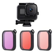 60M Underwater Waterproof Case for GoPro Hero 8 Black Diving Protective Cover Housing Mount for Go Pro 8 Accessory with 3 Color