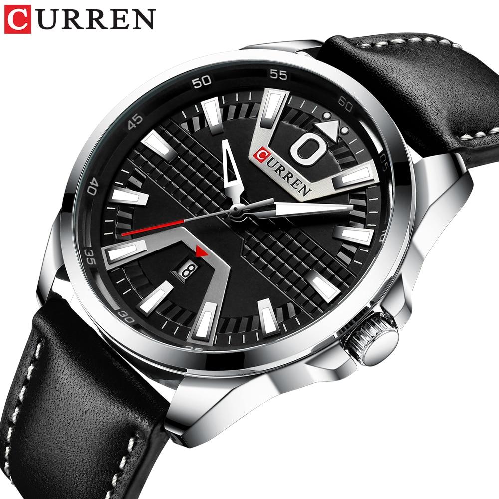 Creative Clock Watch Man Fashion Luxury Watch Brand CURREN Leather Quartz Business Wristwatch Auto Date Relogio Masculino