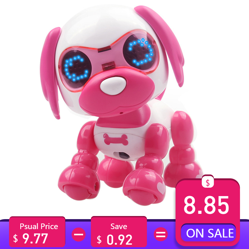 UInteractive Smart Puppy Robotic Dog LED Eyes Sound Recording Sing Sleep Cute Toy Education Toy lovely Children D301212
