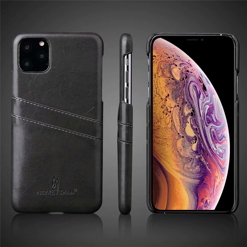 Slim Hard Leather Card Holder Case for iPhone 11/11 Pro/11 Pro Max 8