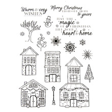 Hot selling House Clear Stamp silicone seal Merry Christmas for DIY scrapbooking Photo album Card Crafts Decor Supplies