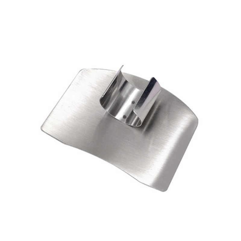 Cozinha deve ter! Protetor de dedo de aço inoxidável guarda seguro fatia acessórios cozinha cozinhar ferramentas