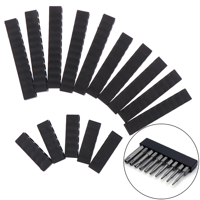 5Pcs Set 6/10/12 Holes Hex Shank Screwdriver Bit Holder Plastic Screwdriver Head Storage Drill Bit Stand For Power Accessories