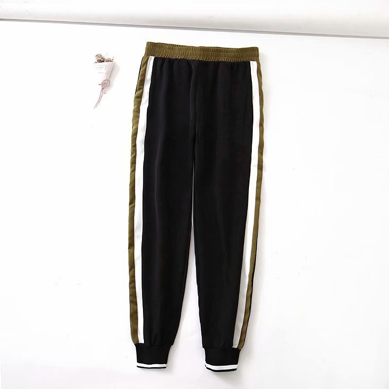 XQ8-40-9142 Euro-American Fashion Side Belt Casual Pants