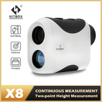 HItbox-Mini telémetro láser para caza, para deporte de Golf, 600M, 1500M, telescopio Monocular, 6X, 8X, ángulo de velocidad