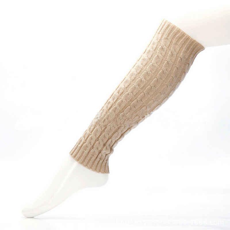 Rahat Kızlar bacak ısıtıcısı s Kadın Sıcak Diz Yüksek Kış Örgü Katı Tığ bacak ısıtıcısı Çorap Sıcak bot paçaları Beenwarmers Uzun Çorap