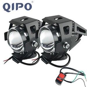 Image 1 - Lâmpada de farol de motocicleta qipo, u5, led, holofotes, hi/lo, acessórios 12v, para honda yamaha