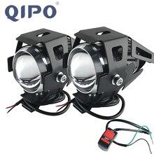 QIPO אופנוע אופנוע נורות מנורת U5 Led זרקור Hi/Lo פלאש אביזרי 12V מנוע Fit עבור הונדה ימאהה