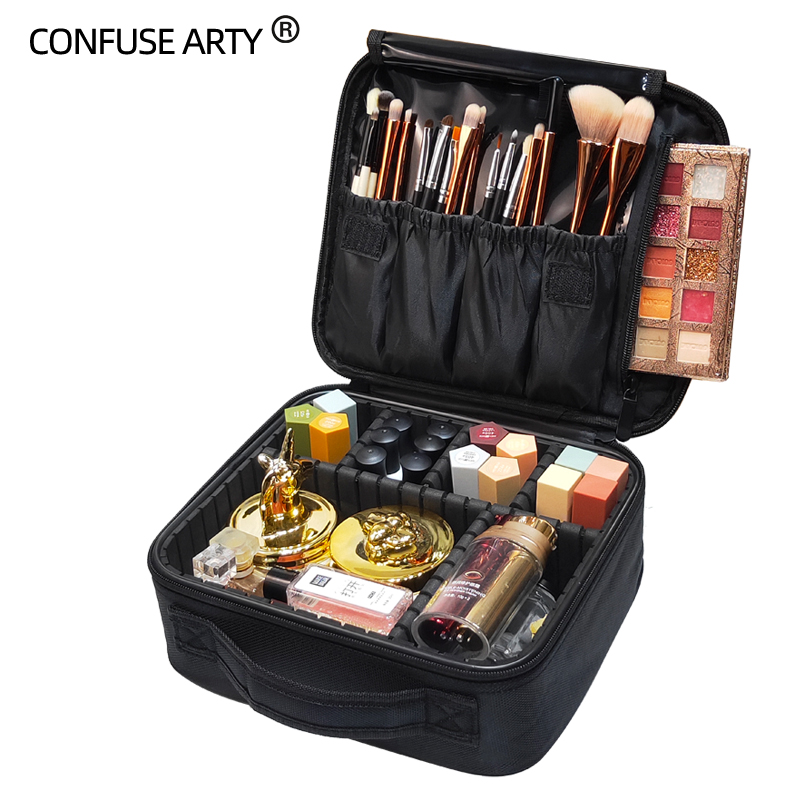 Makeup-Bag Cosmetic-Case Beauty-Brush Necessary Travel Professional Big-Capacity Waterproof title=