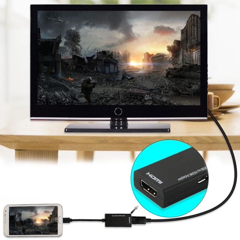 HDMI To VGA Cable Converter With 3.5mm Audio Port Micro USB To HDMI 1080P HD TV Cable Adapter For Android Smart Phone Samsung