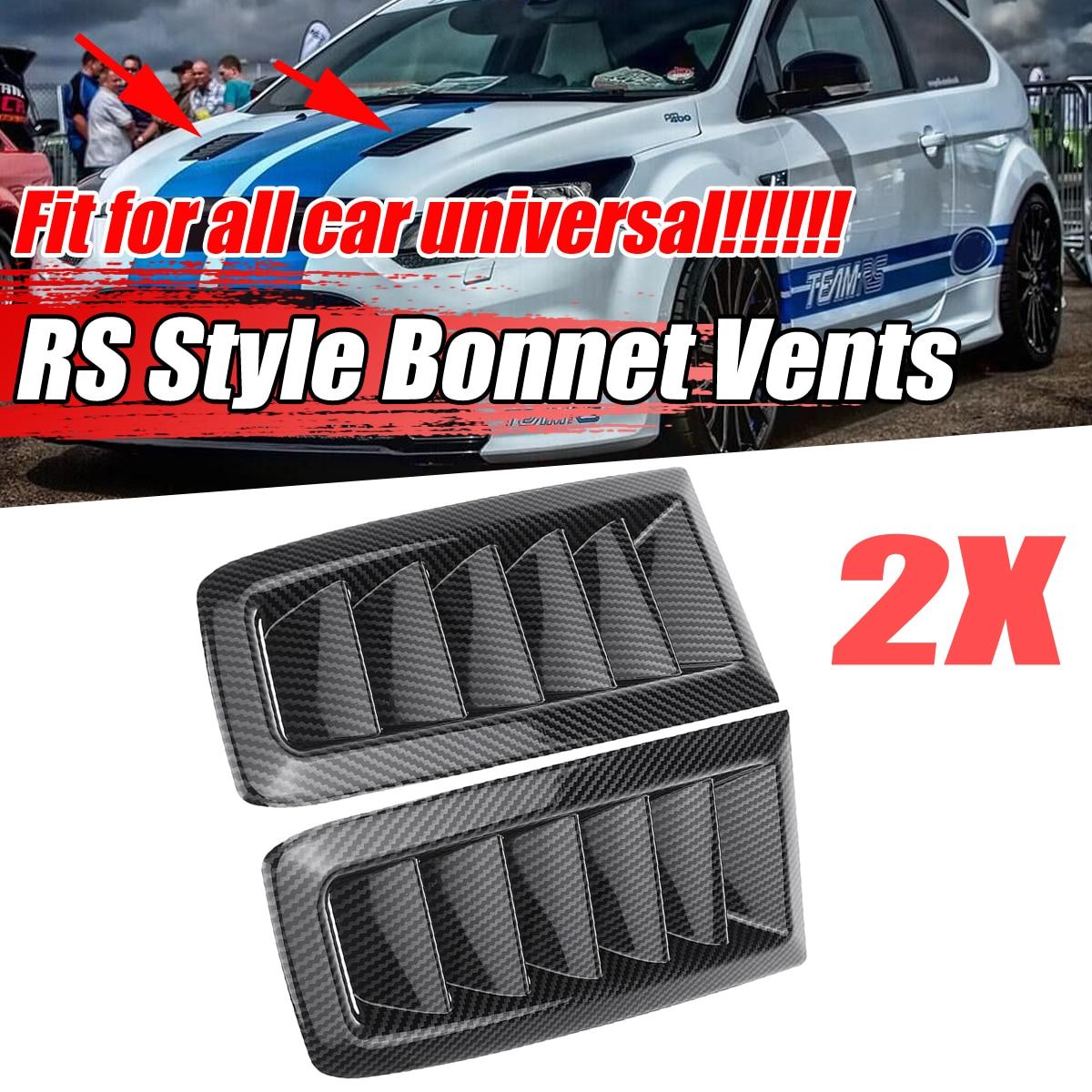 ABS Universale 2x Auto Anteriore Vents Cofano Hood Per Ford Per La Messa A Fuoco MK2 Per Il BMW Per BENZ Per Audi Per civic Per LEXUS Per VW Golf