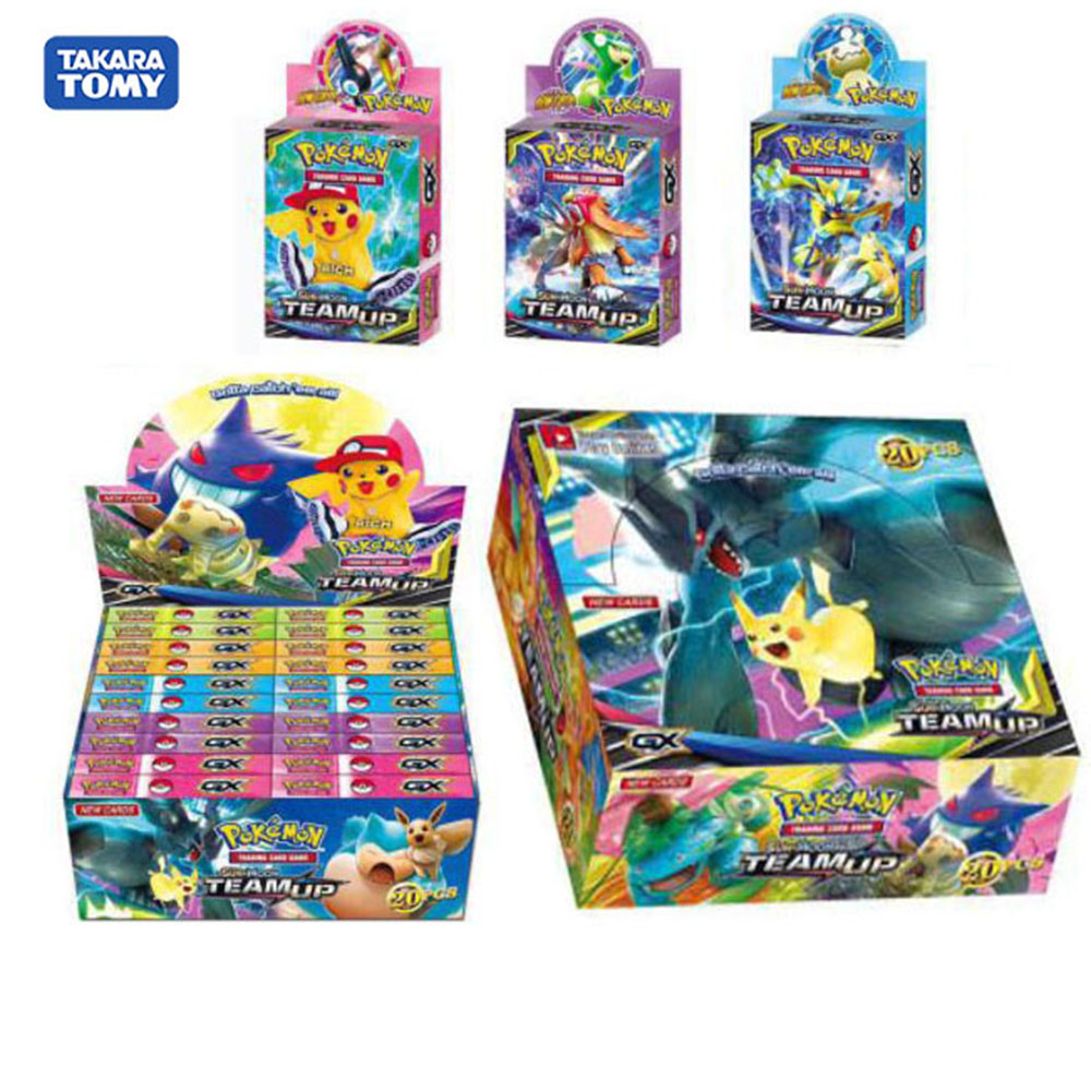 New 660pcs/Set Pokemon Card Pocket Monster TCG: Team Up GX Booster Box Trading Cards Game card Gift Toy For Childrens image