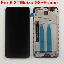 "מקורי נבדק 6.2 ""עבור Meizu X8 M852H LCD תצוגת מסך מגע Digitizer עצרת עבור Meizu X8 עם מסגרת"