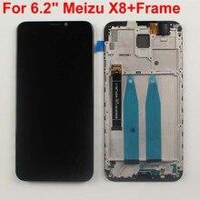 """الأصلي اختبار 6.2 """"ل Meizu X8 M852H شاشة الكريستال السائل مجموعة المحولات الرقمية لشاشة تعمل بلمس استبدال أجزاء ل Meizu X8 مع الإطار"""