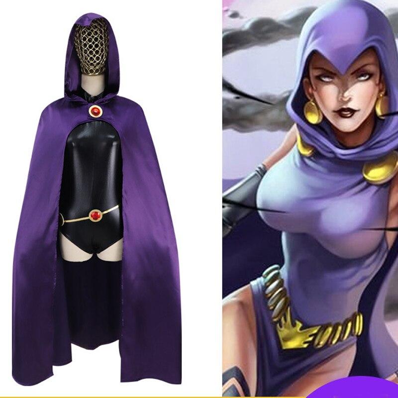 Anime Origin Of Raven Teen Titans Super hero cosplay costume