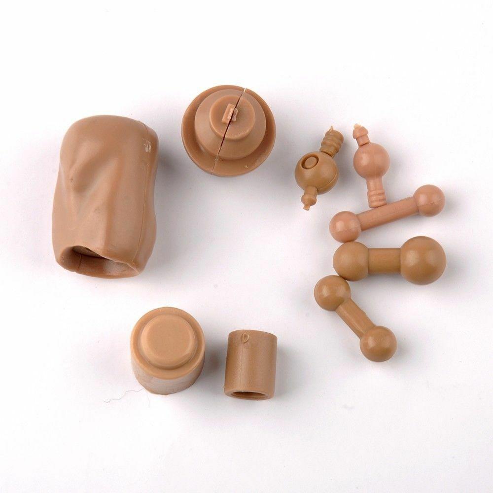 "1:6 SCAKE cou//Foot conector fit 12/"" male//female figure tête modèle Body 9pcs"
