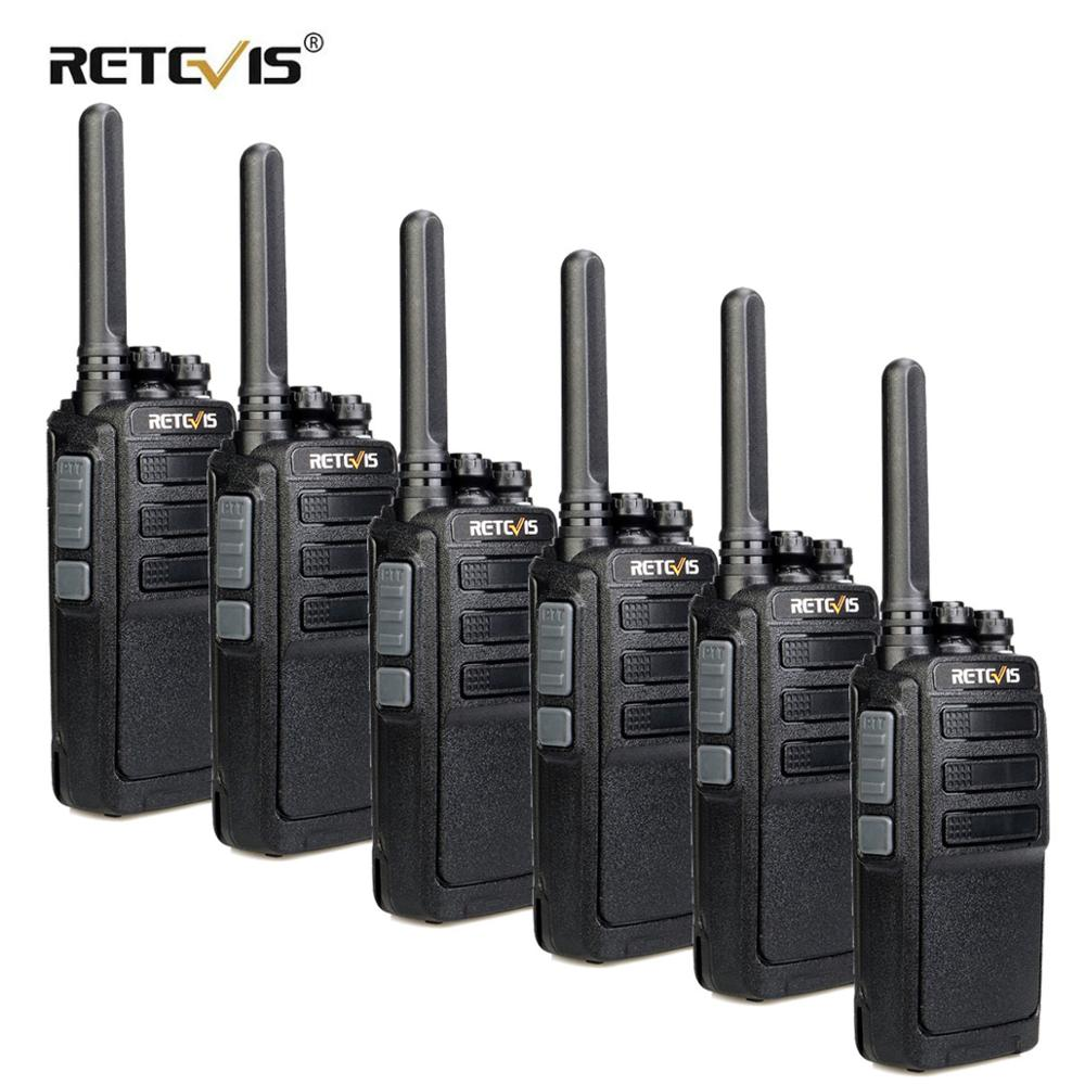 6pcs RETEVIS RT28 Walkie Talkie PMR Radio VOX PMR446 Micro USB Charging Portable Mini Two Way Radio Walkie-Talkie Transceiver