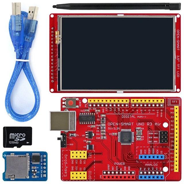 เปิดสมาร์ท 3.5 นิ้ว 480*320 TFT LCDโมดูลชุดพร้อมปลั๊กUNO r3 Air BoardสำหรับArduino UNO R3 / Nano