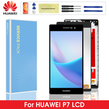 P7 LCD For Huawei P7 LCD Touch Screen Digitizer Screen Assembly With Frame For Huawei Ascend P7 P7-L00 P7-L05 P7-L10 цена и фото