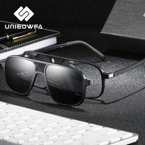 Image 3 - Opticalคลิปแม่เหล็กบนกรอบแว่นตาผู้ชายClear Prescriptionสายตาสั้นกรอบแว่นตาPolarizedแม่เหล็กคลิปแว่นตากันแดดผู้ชายยี่ห้อ
