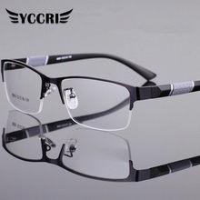 Gafas De Lectura para hombre y Mujer, Lentes dioptrías De medio Marco De alta calidad para negocios, presbicia