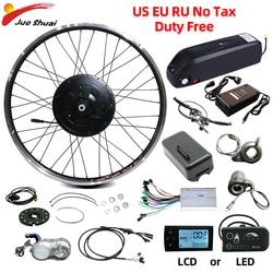 36V 250W Electric Bicycle Gear Hub Motor eBike Conversion Kit 12AH Hailong Battery Front Rear Wheel Drive Ebike Kit MTB Bike