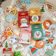 45 Pcs/Box Merry Christmas Sticker Cute Santa Claus Elk Kawaii Decoractive Diary Scrapbooking Stationery