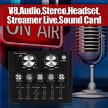 V8 Bluetooth 4,2 звуковая карта Мобильный телефон настольный компьютер пение живое вещание оборудование металлический материал черный внешний вид