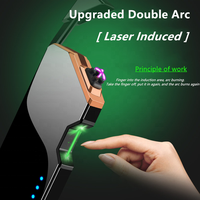 Laser Unusual Plasma Lighter Electric USB Windproof Flameless Cigarette Lighters Gadgets For Men Technology Dropship Suppliers 1