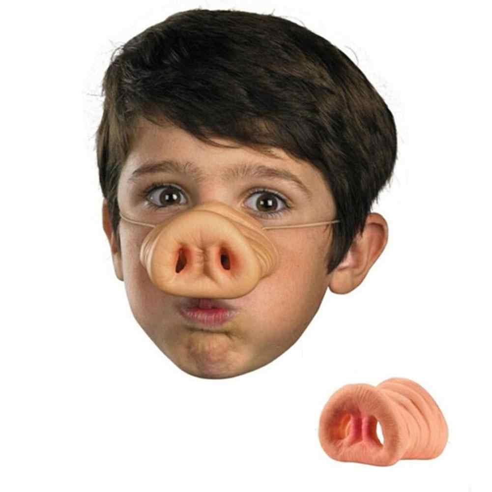 Świński nos z gumką kostium maska zwierzęca Holloween rekwizyt na imprezę dla dorosłych