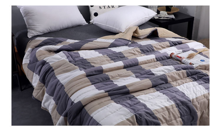 Plaid Air Conditioning Throw Blanket Summer Cotton Thin Blankets for Beds Office Sofa Towel Quilt Good Quality Tv Blanket-2