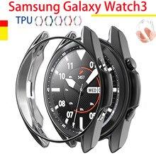 Boîtier de montre en TPU pour Samsung Galaxy montre 3 45mm 41mm montre intelligente 3 étuis de protection coque souple électrolytique